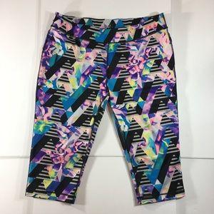 Fila Women's Active Multicolor Capri Leggings (XL)